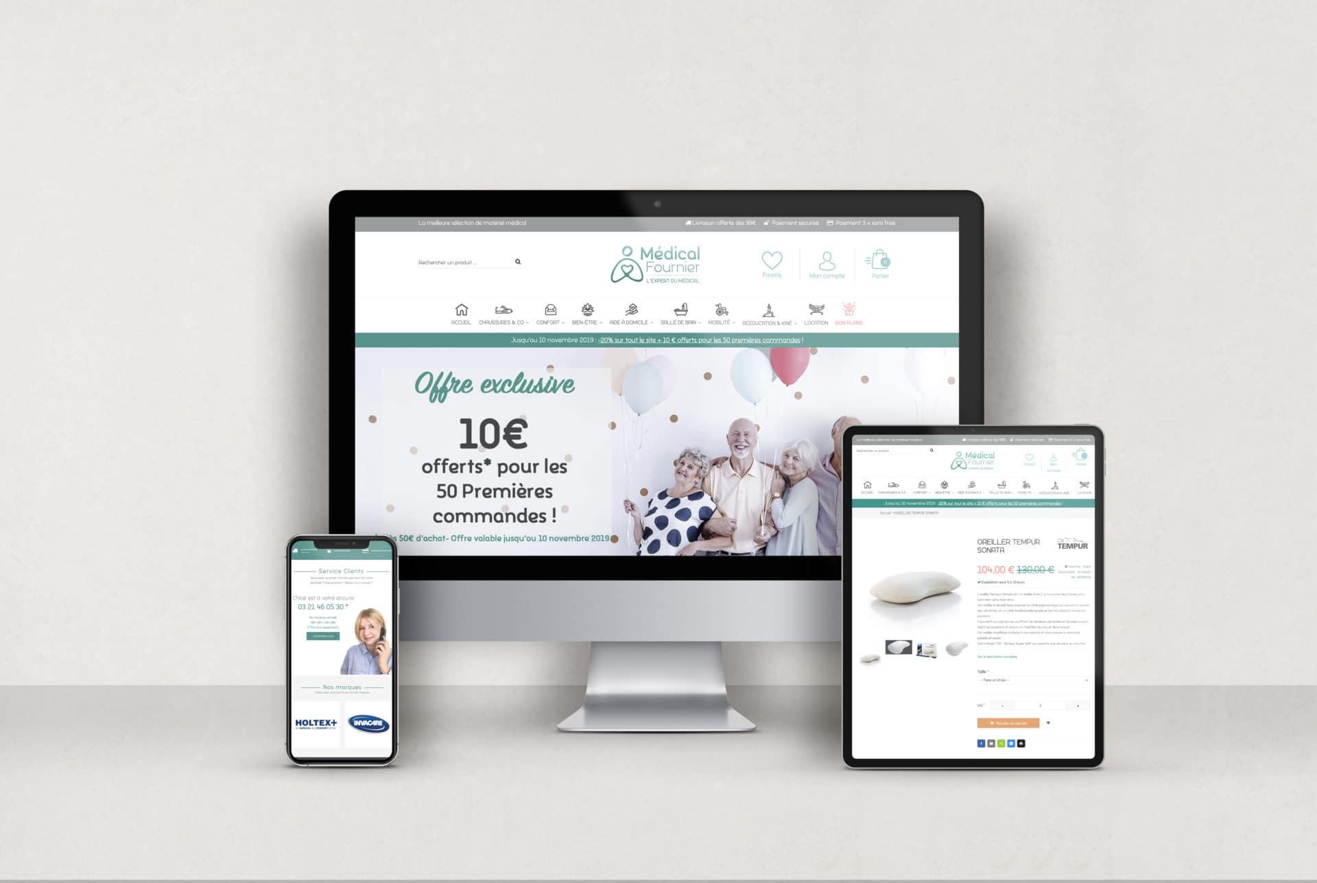 Création site e-commerce Médical Fournier