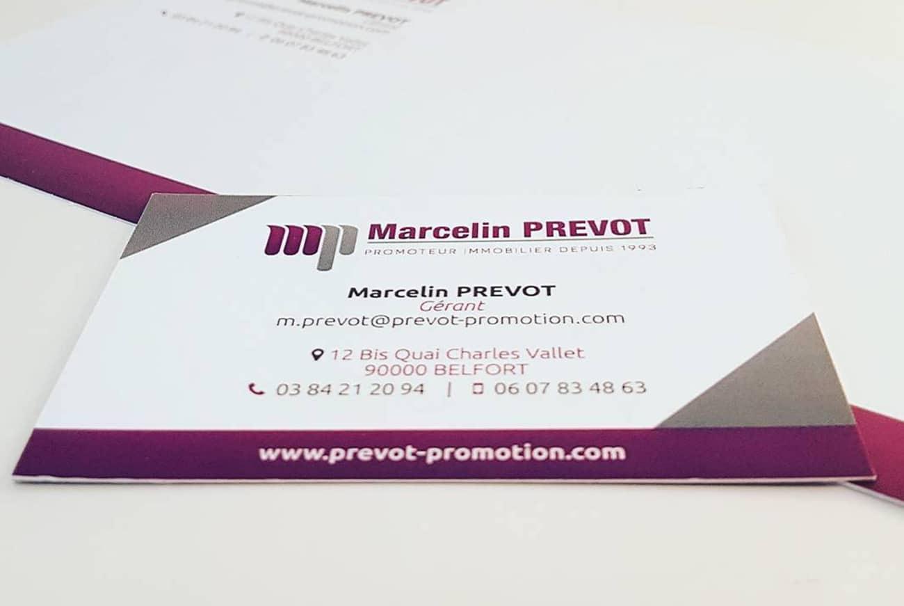 Carte de visite Marcelin Prevot Immobilier