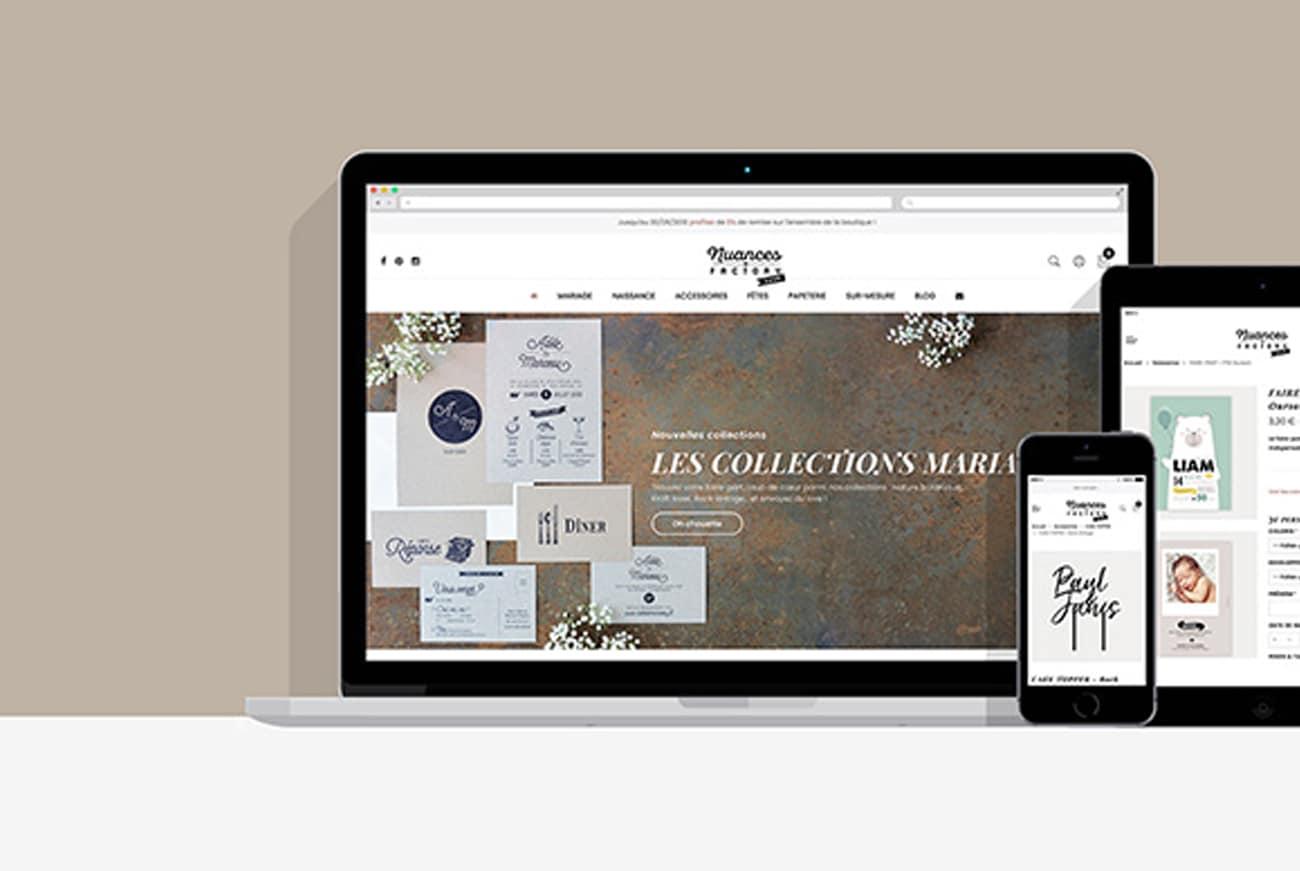Création site e-commerce Nuances Factory