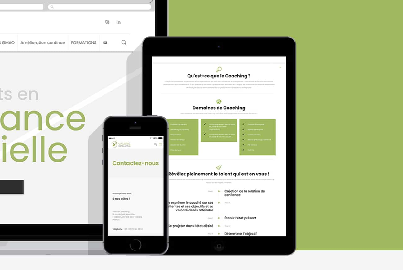 Création site internet responsive Valoris Consulting